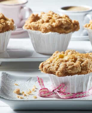 Crumb muffins aux pommes